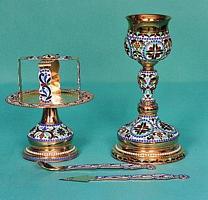 Chalice Set Byzantine Design 2 with Enamel