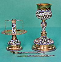 Chalice Set Byzantine Design 3 with Enamel