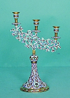 Triple Candlestick with Enamel