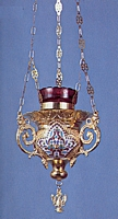 Vigil Candle Byzantine Design 4 Heart
