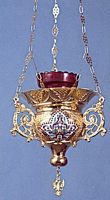 Vigil Candle Byzantine Design 5 Heart