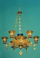 Seven-Vigil Canlde Byzantine Design 1 with little Enamel