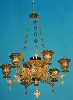 Seven-Vigil Canlde Byzantine Design 1 Engraved