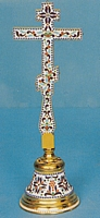 Blessing Cross Russian Design with Enamel and Stand