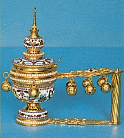 Censer Katzi with Enamel