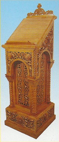 Iconstand Woodcarved Design 4