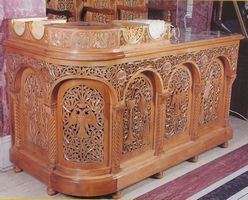 Candle Stand Woodcarved Design A