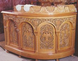 Candle Stand Woodcarved Design C