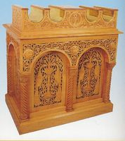 Candle Stand Woodcarved Design D
