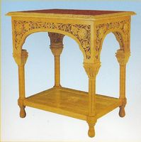 Wedding Table Woodcarved Design A