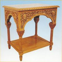 Wedding Table Woodcarved Design B