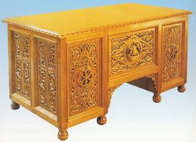 Desk Woodcarved Design A