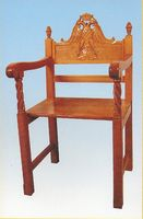 Church Chair Woodcarved Design A
