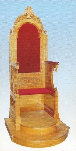 Bishop's Throne Woodcarved Design C