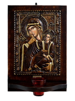 Virgin Mary Paramythia - Wood Carved Iconostasis