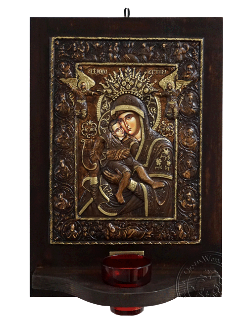 Axion Estin - Wood Carved Iconostasis