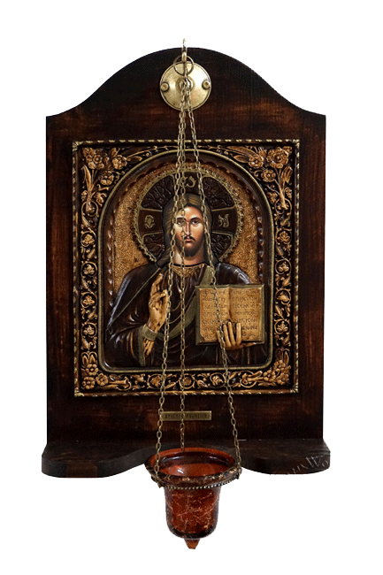 Christ Blessing - Wood Carved Iconostasis