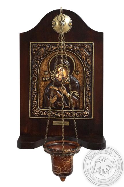 Virgin Mary Glykofilousa - Wood Carved Iconostasis