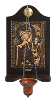 Virgin Mary Paramythia - Wood Carved Iconostasis