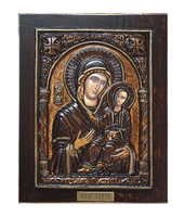 Virgin Mary Odigitria - Wood Carved Icon
