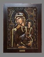 Virgin Mary Paramythia - Wood Carved Icon
