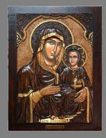 Virgin Mary Ierosolymitissa - Wood Carved Icon