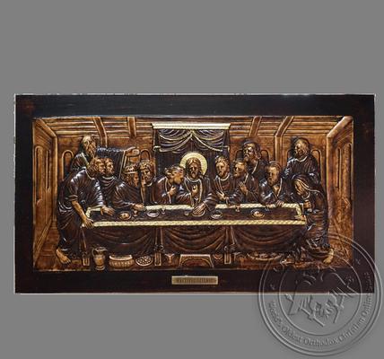 Large hand carved wood last supper u the vintage catholic